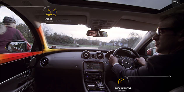 Jaguar Land Rover Uses In-Car Alerts Which Tend to Protect Cyclists and Drivers from Crashes